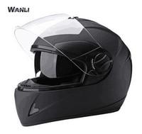 NEW Genuine High Quality WANLI Full Face Helmets Winter Warm Double Visor Motorcycle Helmet Casco Motorbike