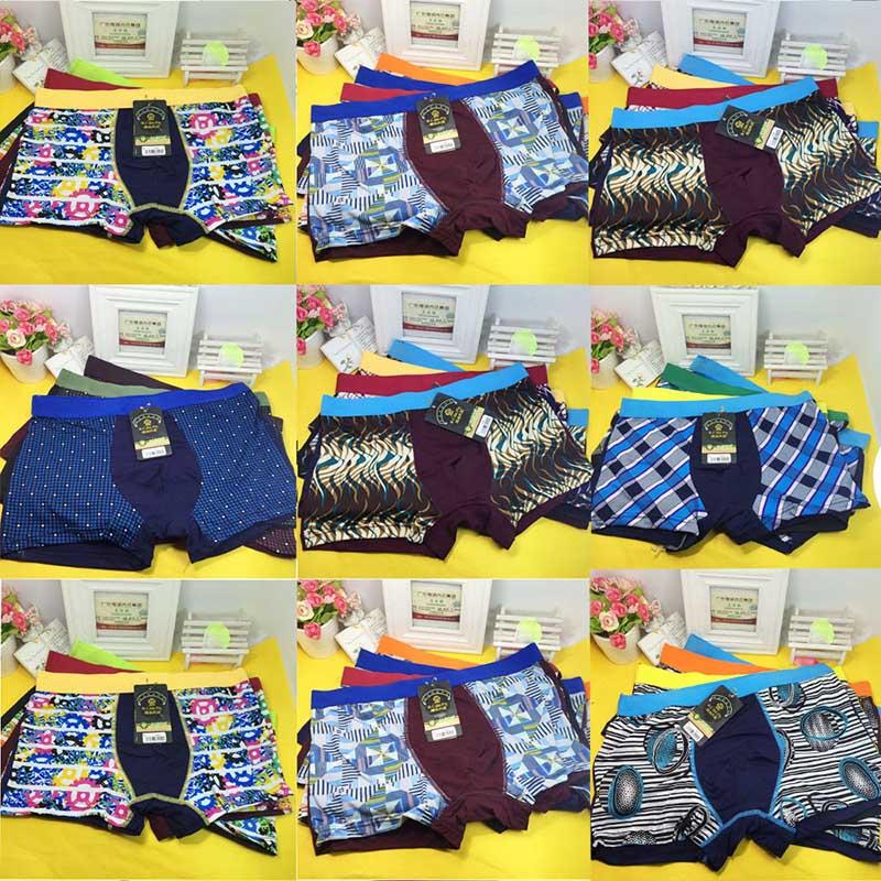 10 Packs/Set New Quality Boxer Gentle Man Male Men's Underwear - Multi Color - XXL 3XL 4XL 5XL