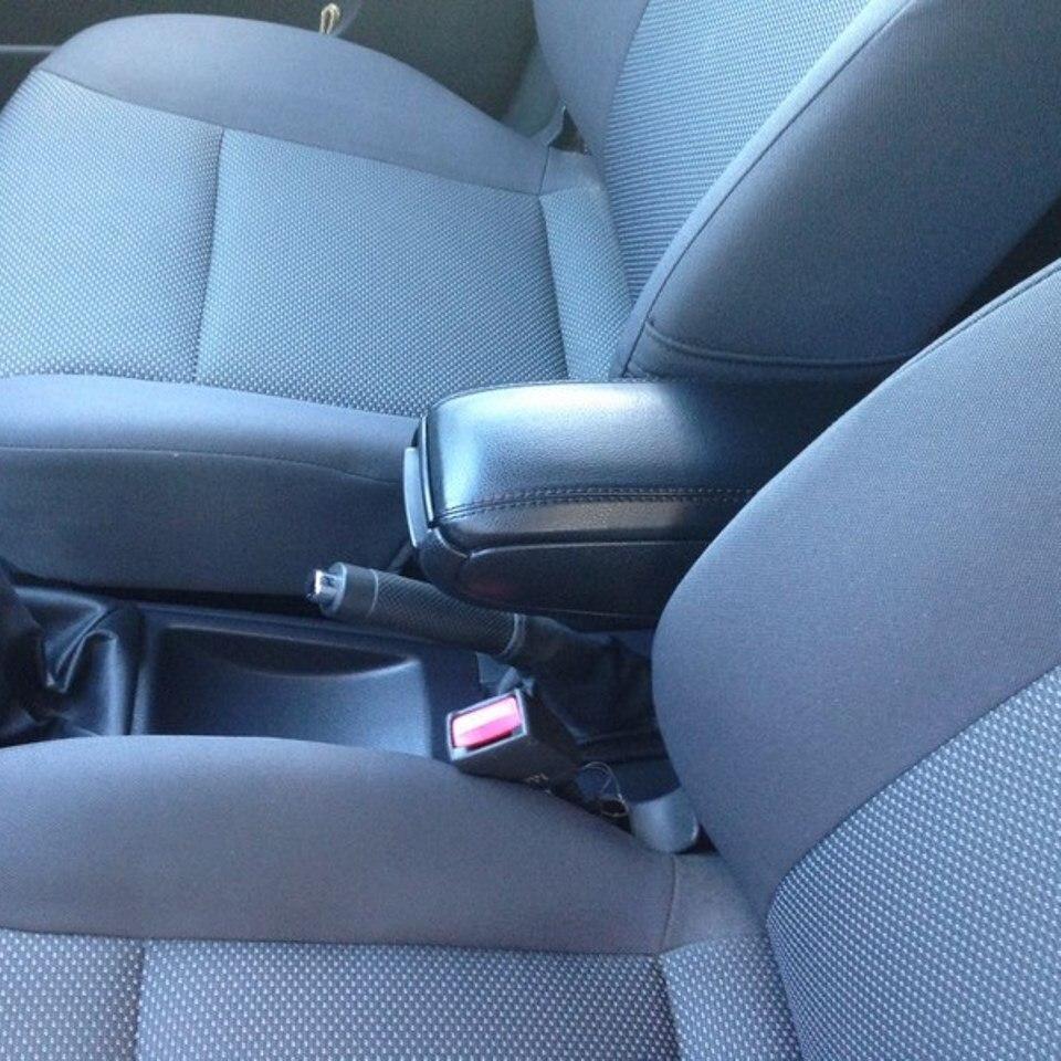 For Chevrolet Aveo T250 2006-2010 insertable armrest with inner boxing PCHAV9V for volkswagen polo sedan 2009 2019 armrest with inner boxing on staffing mount pcvwp9v