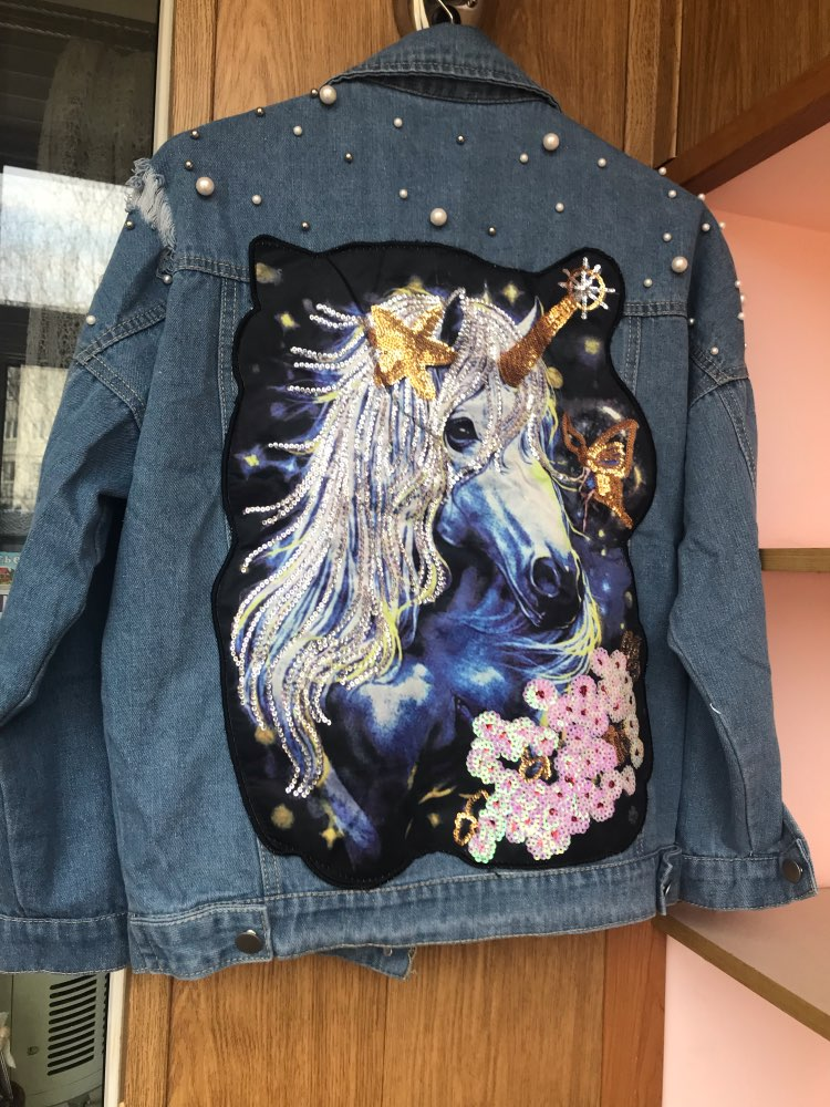 [2019] BEST-SELLER Unicorn Pearls Ripped Denim Jacket photo review