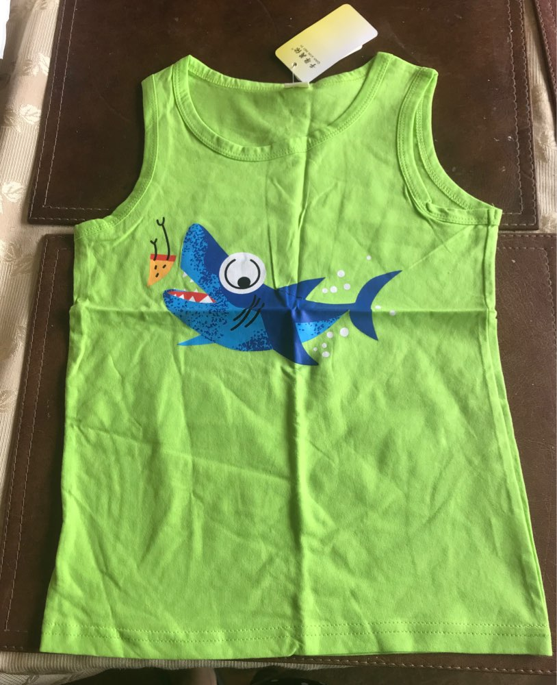 Fashion Summer Breathable Cotton Boy's Tank Top photo review