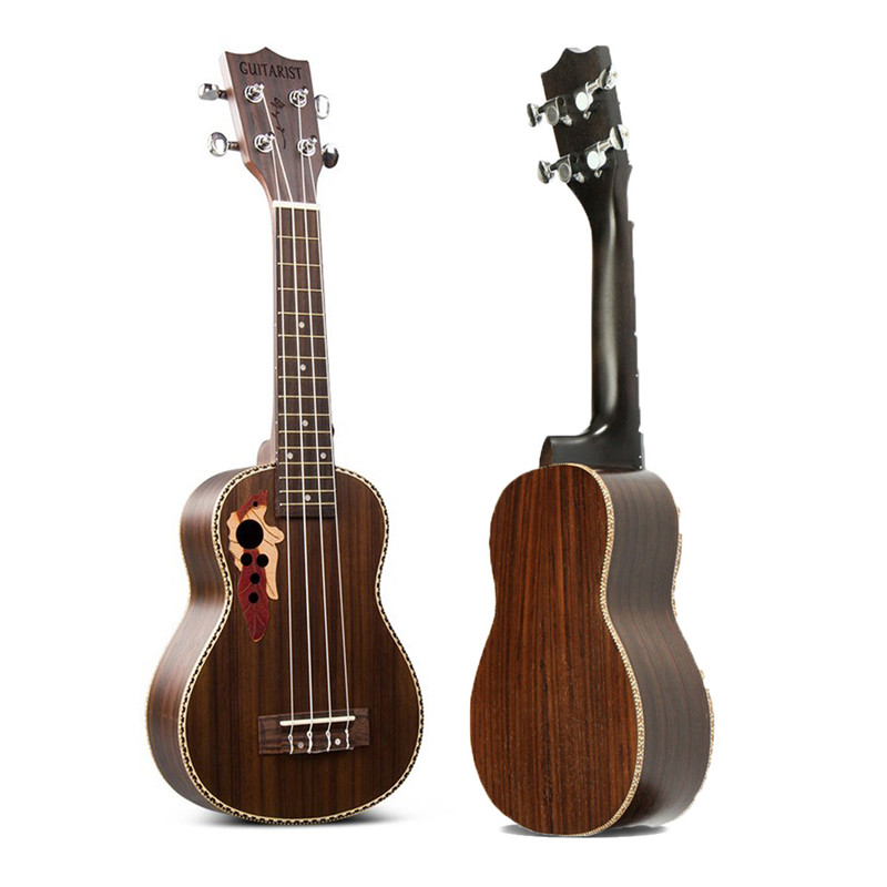 Zebra 21'' Acoustic Rosewood 4 Strings Concert Ukulele Uke Hawaiian Bass Guitarra Guitar for Musical Stringed Instruments Lover soprano concert acoustic electric ukulele 21 23 inch guitar 4 strings ukelele guitarra handcraft guitarist mahogany plug in uke