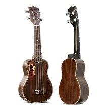 "Zebra 21"" Acoustic Rosewood 4 Strings Concert Ukulele Uke Hawaiian Bass Guitarra Guitar for Musical Stringed Instruments Lover"