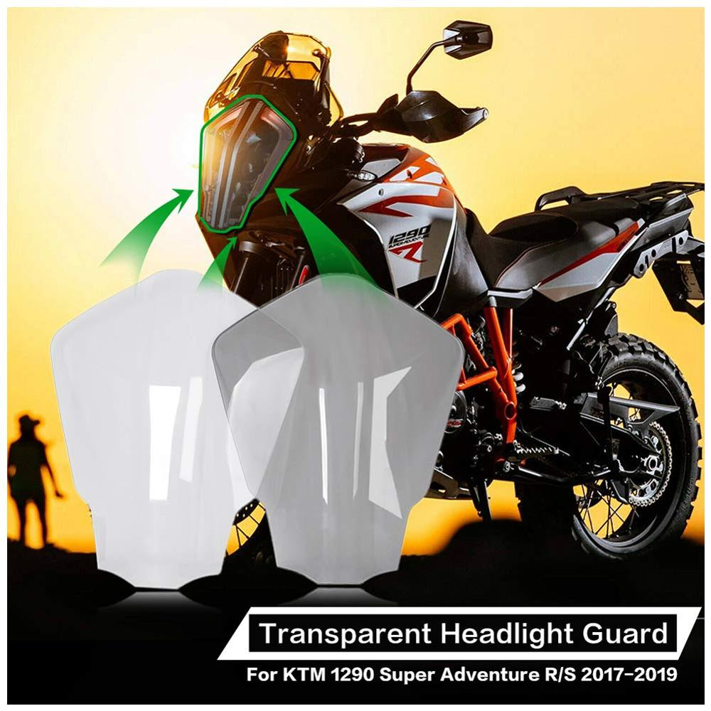 Front Headlight Lens Cover For <font><b>KTM</b></font> <font><b>1290</b></font> <font><b>Super</b></font> ADV R <font><b>S</b></font> <font><b>Adventure</b></font> 2017 2018 <font><b>2019</b></font> Head Light Protector Lamp Guard Screen Shield image