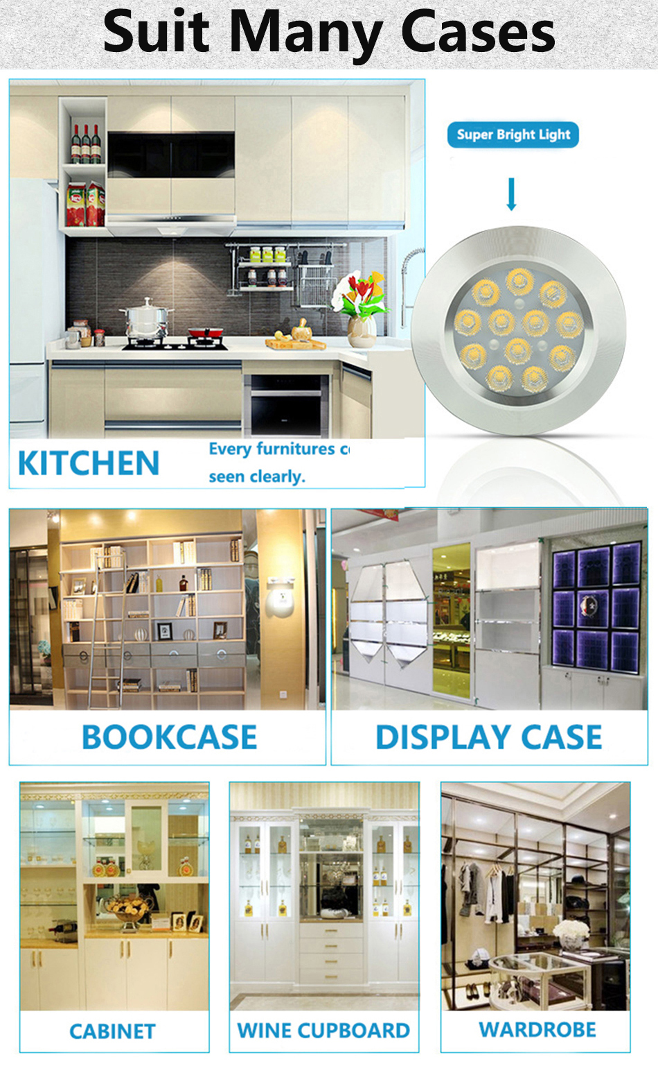 3W under cabinet lamp 4.1