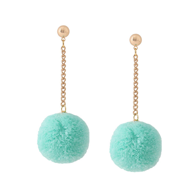 Pompom earrings (different colours)