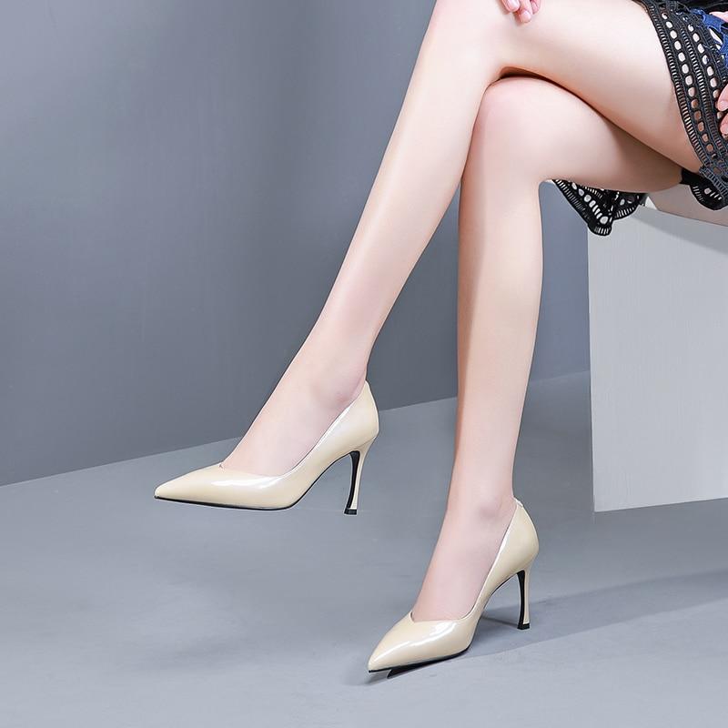 Diseño Zapatos Bombas Nuevo Oficina De 2019 Dama Tacón Alto Mujer wqwH0v