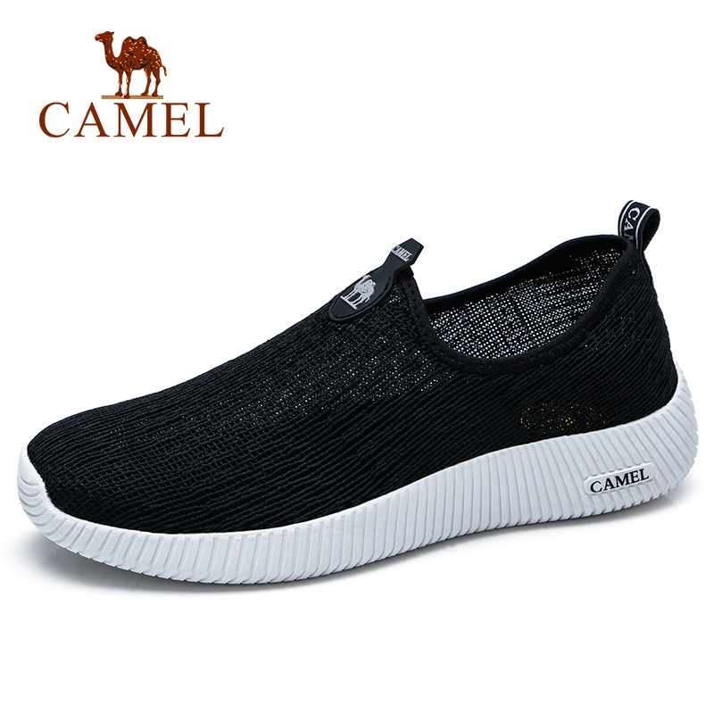 CAMEL Men's Shoes Spring Summer New Walking Fashion Outdoor Casual Shoes Breathable Mesh High-elastic Lightweight Male Footwear
