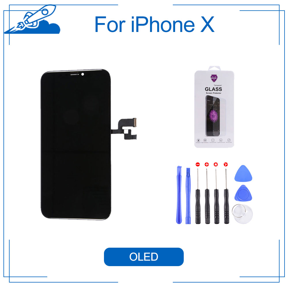 Elekworld Grade Soft OLED GX For iPhone X LCD Display With 3D Touch Screen Digitizer Assembly
