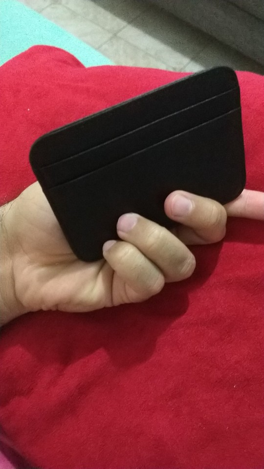SMILEY SUNSHINE slim genuine leather card holder business credit card id holder card case cardholder rfid men wallet porte carte photo review