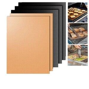 10 pçs de cobre chef churrasco grill assar não-vara cozimento alta temperatura ao ar livre churrasqueira esteira, assar esteiras 40*30cm cozinhar ferramentas