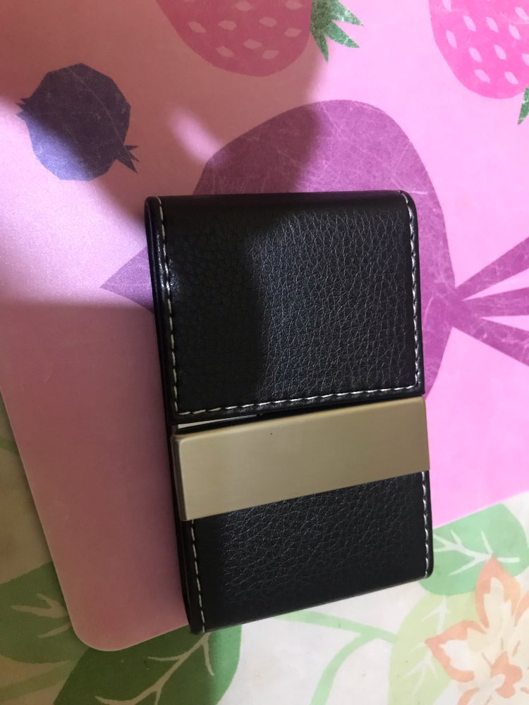 Double Open Business Luxury Brand Credit Card women men Package Card Holder Double Open Business Card Case Porte Carte photo review
