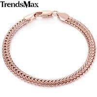 10 мм мужские мальчики цепи кованые снаряженная браслет застежка омар розовое золото заполненные браслет мода ювелирных ключевые gb99