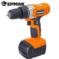 Taladro ermak, destornillador eléctrico con batería, taladro manual de herramienta para el hogar, venta de alta calidad, envío gratis 691-005