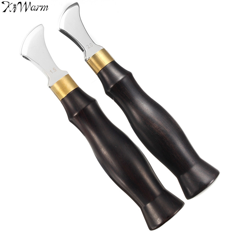 KiWarm Top Grade Leather Edge Creaser Tool 304 Stainless Steel Polished Finish Press Edge Marking Creaser Leather Handwork Tool marking tools