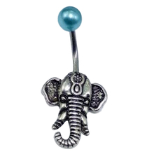 Lovely Retro Little Elephant Navel Piercing Sexy Belly Button Ring Women Jewelry