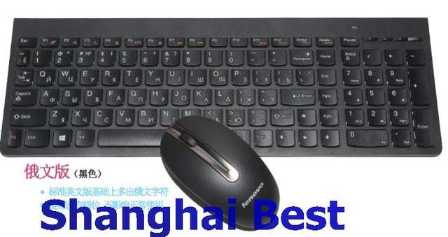 Lenovo 2,4 Ghz беспроводной комбо SK8861 русский Швейцарский немецкий итальянский США турецкий Великобритания тайская шоколадная клавиатура мыши 1000 dpi мышь SM8861