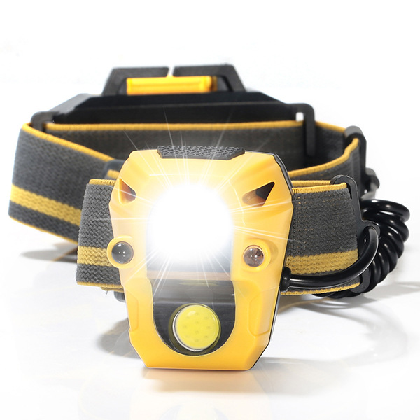 Mising 4 Modes 1200 LMs HeadLamp 3x AAA Battery Running Bicycle Outdoor Sensor Headlight Zoomable Flashlights for Camping Hiking