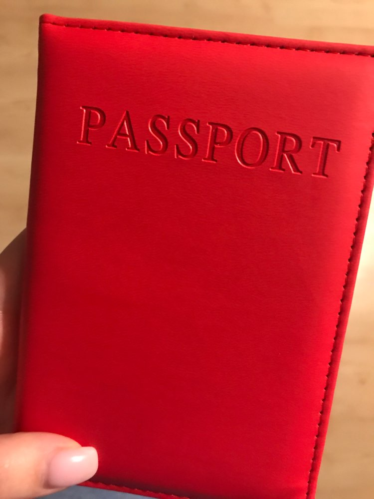 Artificial Leather Solid Candy Color Passport Holder Couple Models Women's Travel Passport Cover Man Card Holder (Custom logo) photo review