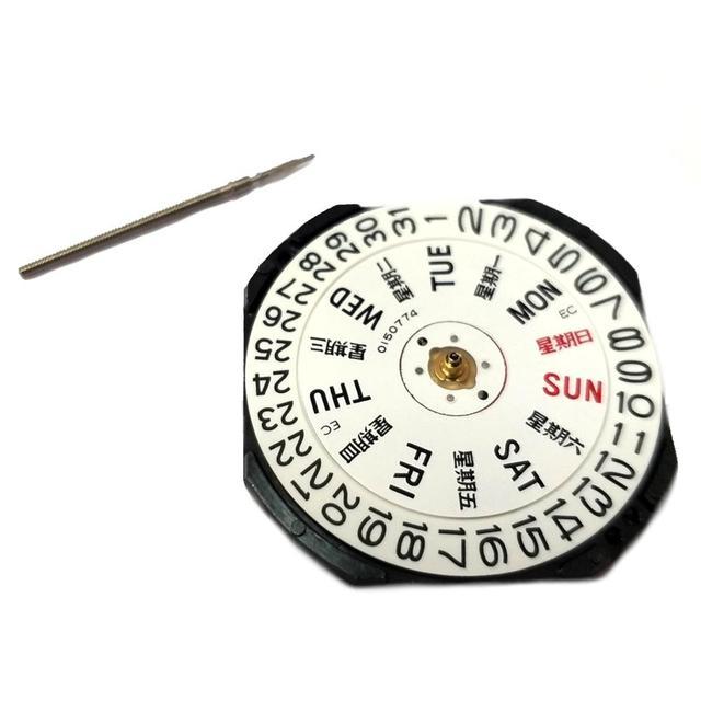 יפן 3 יד קוורץ שעון תנועה Epson VX43 יום ותאריך באופן 3:00 גובה כולל 4.5mm MO1094A
