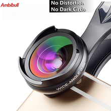 цена на Ambibull 2 in 1 Camera Lens Kit with 0.6X Wide Angle Lens& 12X Macro Lens Clip Cell Phone Lens for iPhone Samsung other Phones