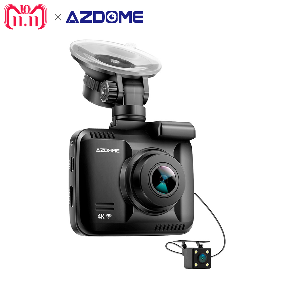 Azdome GS63H Dual Lens FHD 1080P Front + VGA Rear Car DVR Recorder Dash Cam Novatek 96660 With Rear Camera Built in GPS WiFi dual lens wifi car dvr camera video recorder novatek 96660 built in gps 4k dash cam 2880x2160p dual cameras for front and rear