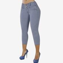 S 5XL ZANZEA Women Summer Stretch Skinny Capris Pantalon Fashion Casual Solid Hi