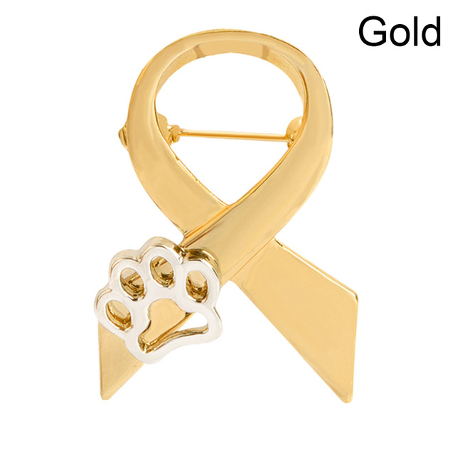 Fashion Dog Paw Print Pins Brooch Pin Up Gold Silver 2 Color For Women Suit Hats