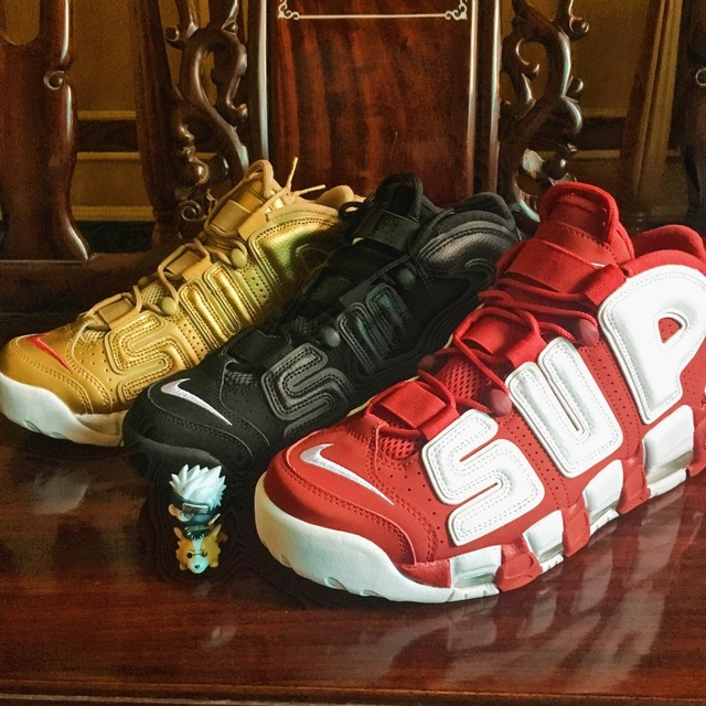 huge discount 73f63 9ea90 Supreme x Nike Air More Uptempo Scottie Pippen Basketball shoe 100%  Authentic Spot Stocks 902290-700-600 test only not for sell