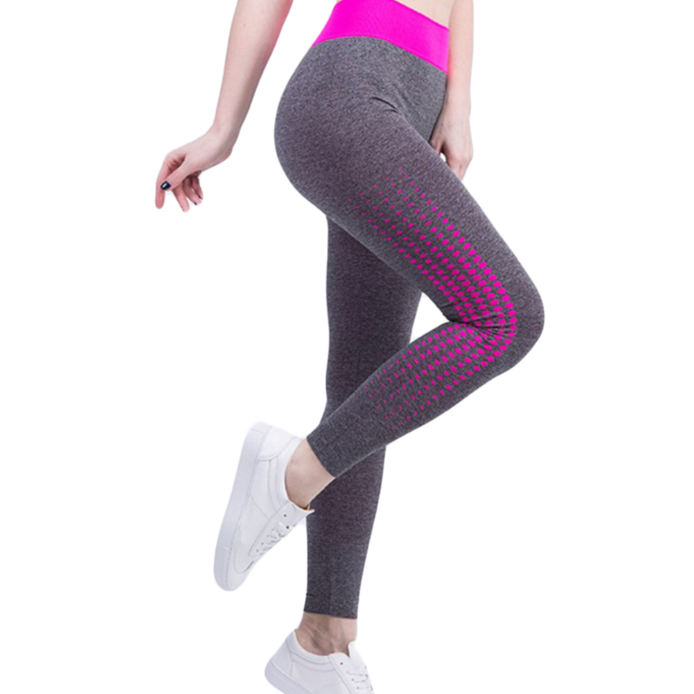 Stitching Yoga Pants Sports Leggings Exercise Tights Fitness Running Jogging Trousers Gym Slim Compression Pants