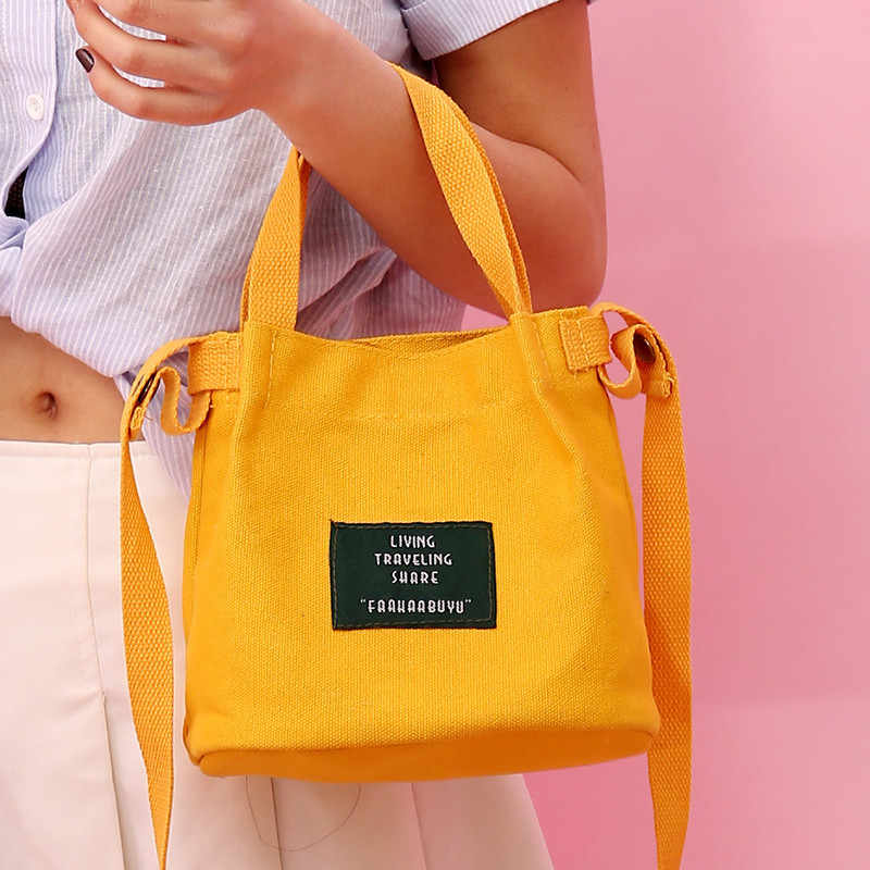 c6118f539 ... Vintage corduroy canvas bag women Simple solid color art Original  handbag bucket bag letter print shoulder ...