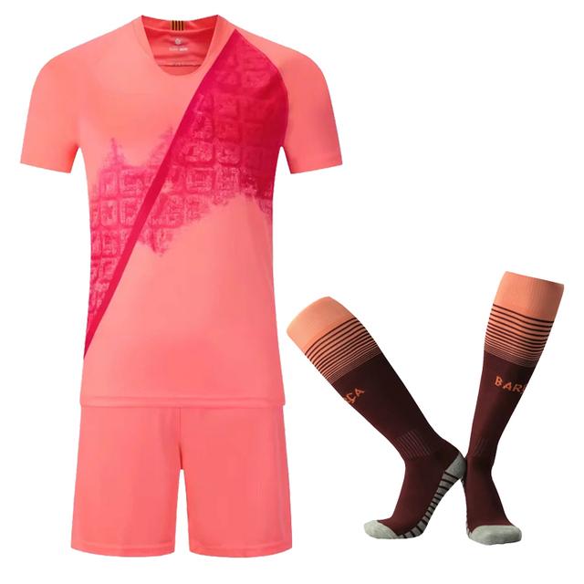 2019 Kids Soccer Jerseys Sets Survetement Football Kit Men child Futbol Running Jackets Boys Girls Training Tracksuit free socks