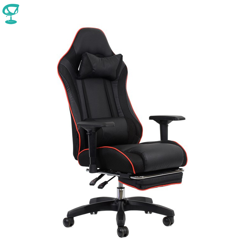 95144 Barneo K-141 Black Red Line Gaming Chair Computer Chair Mesh Fabric High Back Plastic Armrests Free Shipping In Russia
