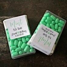 Персонализированная 120 Свадебная душевная мята, чтобы быть благосклонной этикеткой Tic Tac коробка наклейки на день рождения ребенка подарок на подарок Подарочная посылка