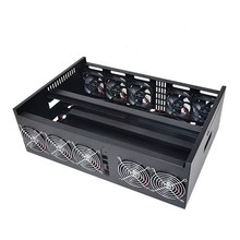 9 GPU Mining Rig Aluminum Case Computer ETH Miner Frame Rig + 10 Fans Open Air Frame DIY Mining Frame Server Chassis For BTB