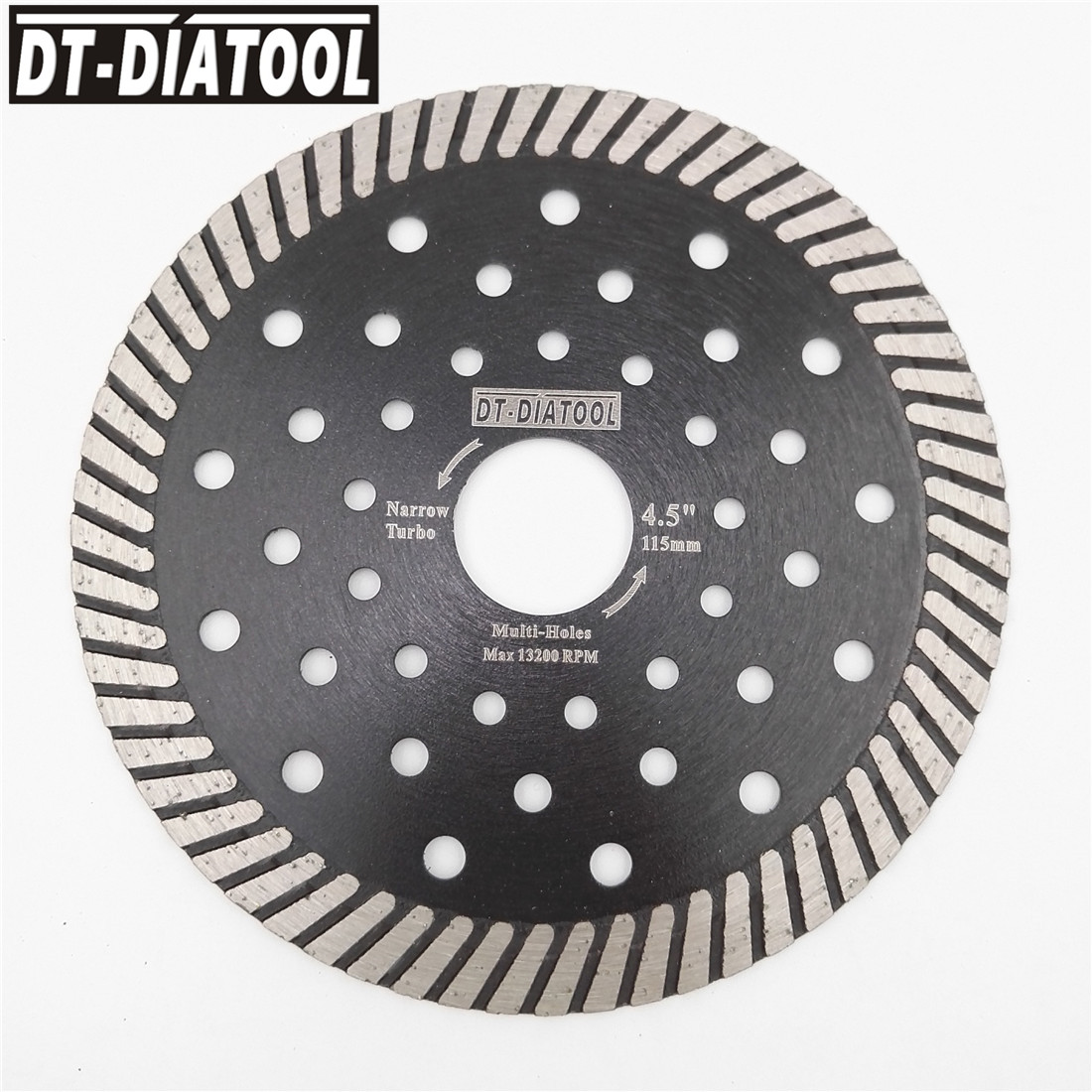 цена на DT-DIATOOL Diamond Hot Pressed Narrow Turbo Saw Blade Multi Holes diamond disc Cutting Granite Marble Masonry 4 4.5 5 7 9