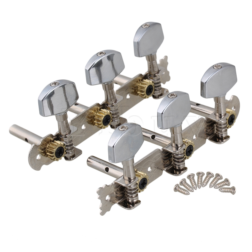 Yibuy Guitar Class Tuning Pegs W / Set tip Chrome