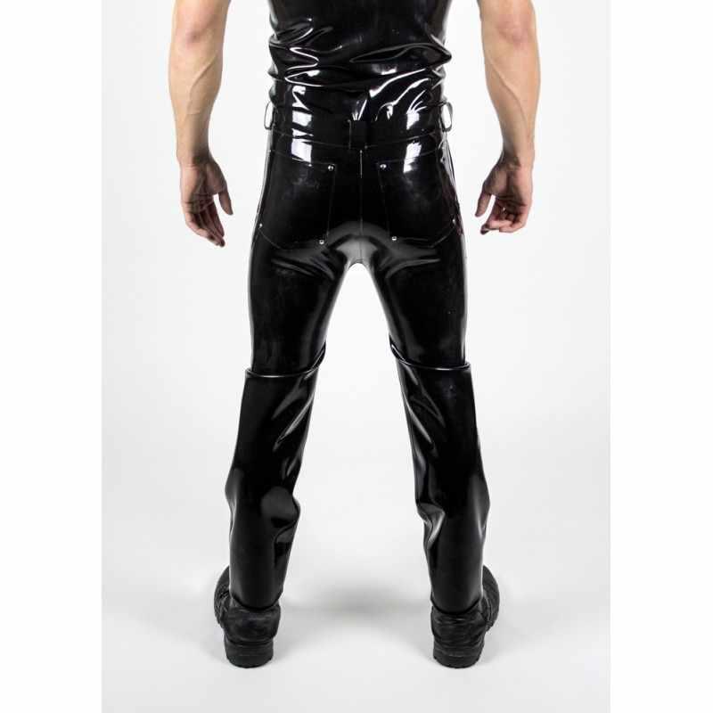 Плотный латекс джинсы 0,6 мм Толщина длинные латексные брюки