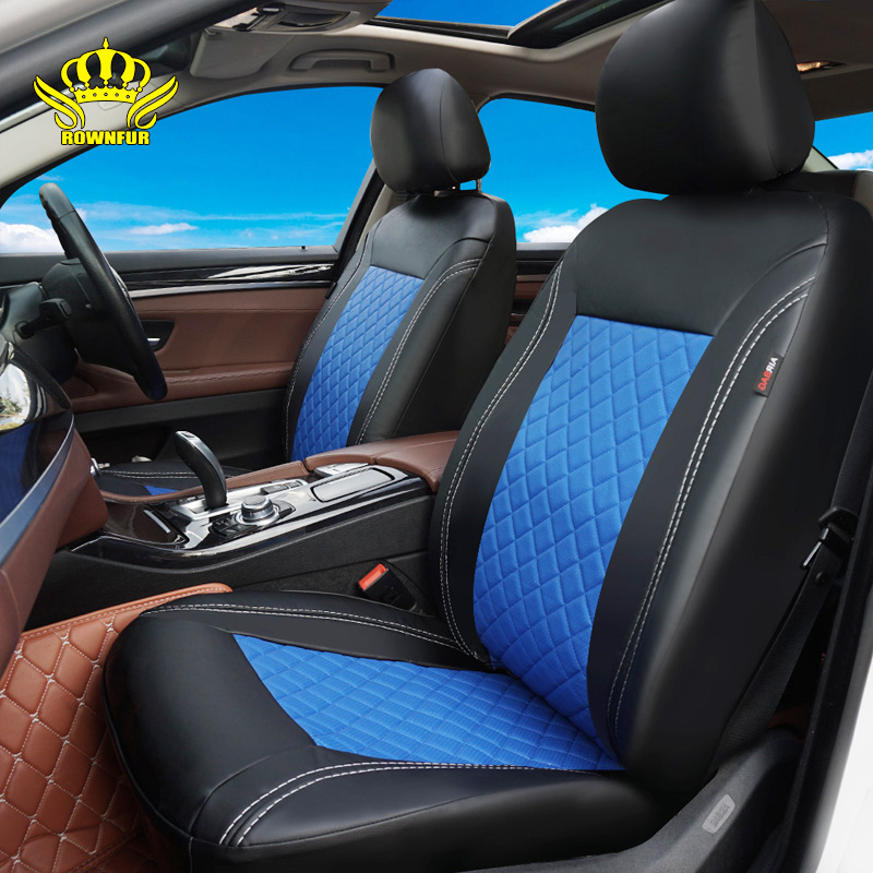 PU Leather Car Seat Covers Luxury Universal Automotive interior Seat Cover for toyota Mazda Volkswagen Hyundai Kia Lada Nissan(China)