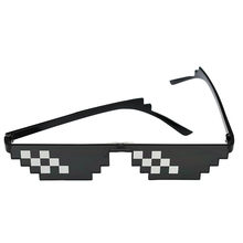 36b5150af5b Glasses 8 Bit MLG Pixelated Sunglasses Men Women Brand Thug Life Party  Eyeglasses Mosaic Vintage Eyewear