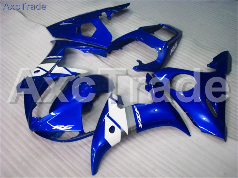 Motorcycle Fairings Kits For Yamaha YZF600 YZF 600 R6 YZF-R6 2003 2004 03 04 ABS Injection Fairing Bodywork Kit Blue White A375