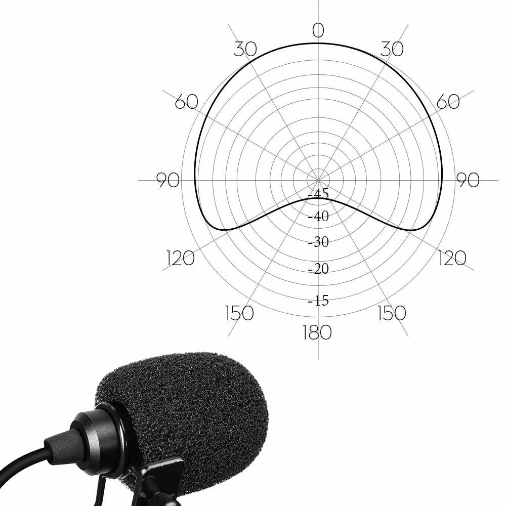 hight resolution of  comica xlr 48v phantom power lapel dslr mic 1 8m wire omnidirectional lavalier video microphone for