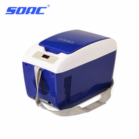 SOAC refrigerator car lunch box heated power supply 12 volts freezer in car camping refrigerator for home household CR082