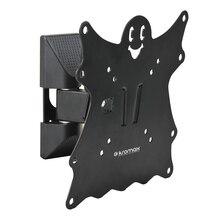 ТВ кронштейн Kromax CASPER-202 черный (Наклонно-поворотный, сталь, диагональ экрана 15-40 дюймов/38-102 см, макс нагрузка 30 кг, наклон +5/-15 градусов, расстояние от стены 57-110 мм, встроенный водяной уровень)