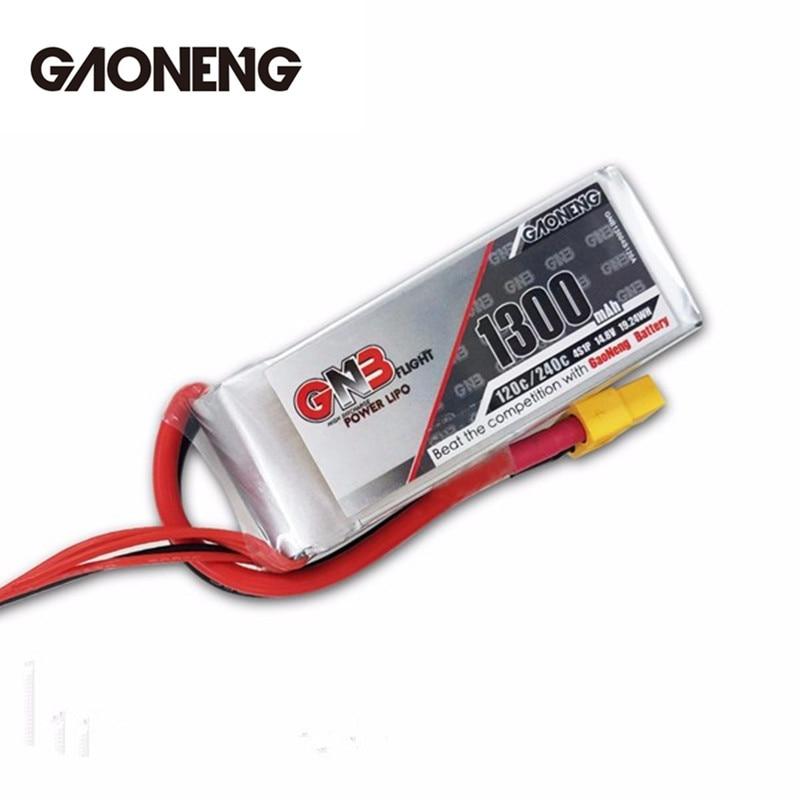 2PCS 2x Gaoneng GNB 14.8V 1300mAh 4S 120C 240C Rechargeable Lipo Battery For FPV Racing RC Drones Quadcopter Power DIY