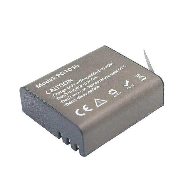 GTF 3.7V PG1050mAH Battery For EKEN Action Camera H9 H9 H3 H3R H8PRO H8R H8 pro SJ4000 SJCAM SJ5000 M10 SJ5000X Recharge battery 3
