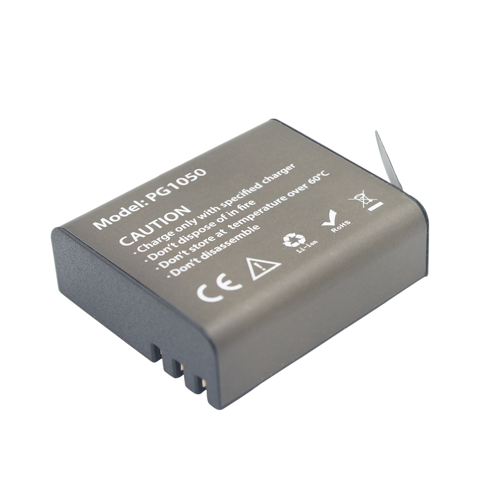 3.7V 1050mAh Action Camera Battery For EKEN H9 H9R H3 H3R H8PRO H8R H8 SJ4000 SJCAM SJ5000 SJ5000X <font><b>PG1050</b></font> Rechargeable battery image