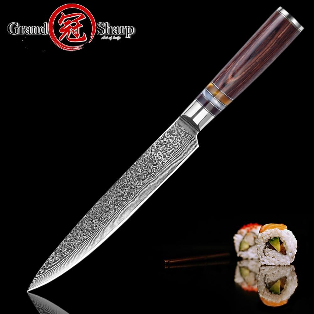 Chef s Knife Damascus Knives 8 Inch Slicing Knife 67 layers Japanese Kitchen Knife VG10 steel