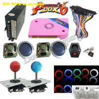 10 sets DIY Arcade game console Kit with Pandora Box 6 PCB 1300 in 1 Power Supply Jamma Joystick LED Push Button HDMI/VGA to TV