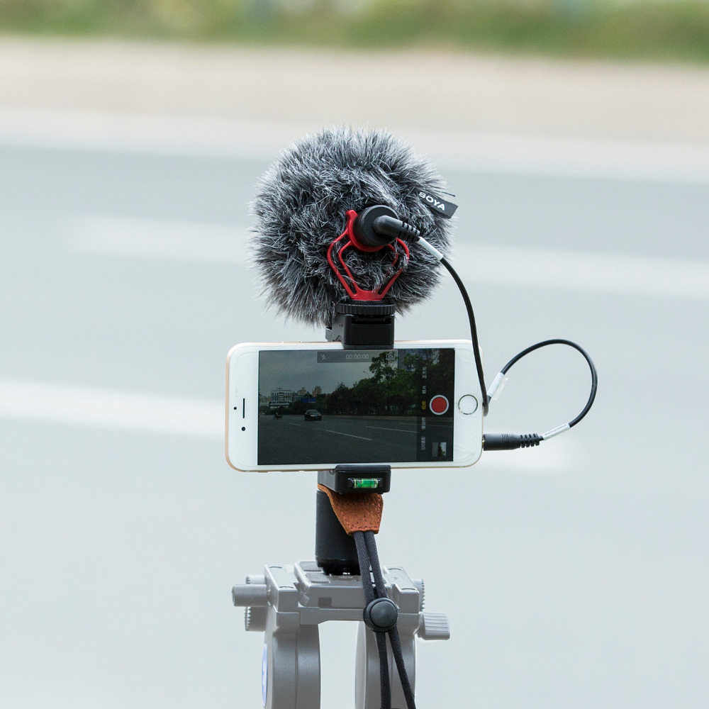 Mouriv Compact On Camera Video Microphone Youtube Vlogging Recording Mic with Handheld Grip Rig for iPhone